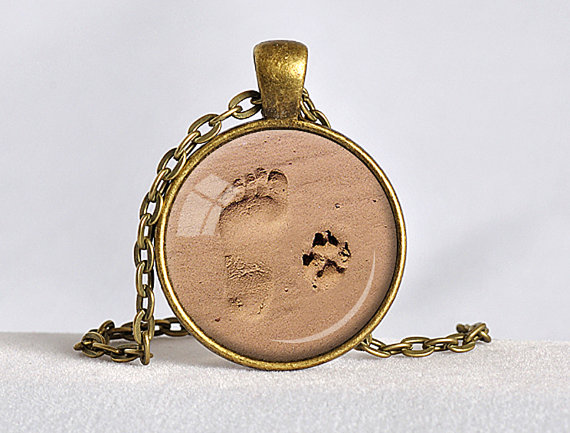 Dog paw print necklace pehts dog paw print necklace mozeypictures Gallery