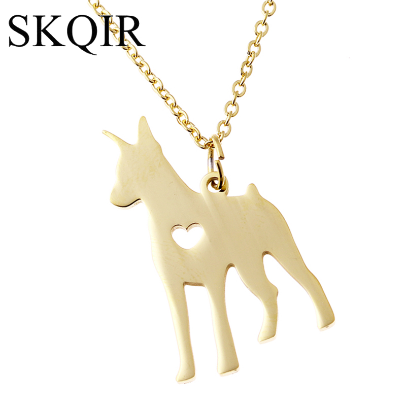 82b2eee4ee6 Dog Necklaces Engrave Doberman Pinscher Animal Pendant Necklace For. Tap To  Expand. Proud Dog Mom Black Diamond Necklace Sterling Silver 173680808 Kay